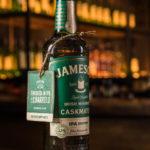étiquette façon sous bock imprimée et embossée, finition or, marquage à chaud, Jameson, Irish Distillers