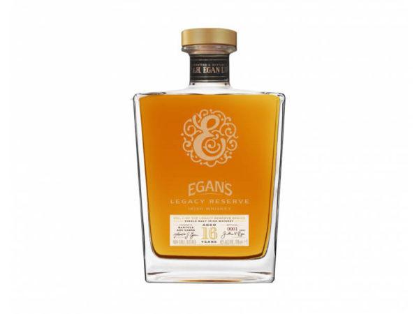 tour de col, ruban gros grain doré à la feuille, Egan's Whiskey Legacy 16 ans d'âge