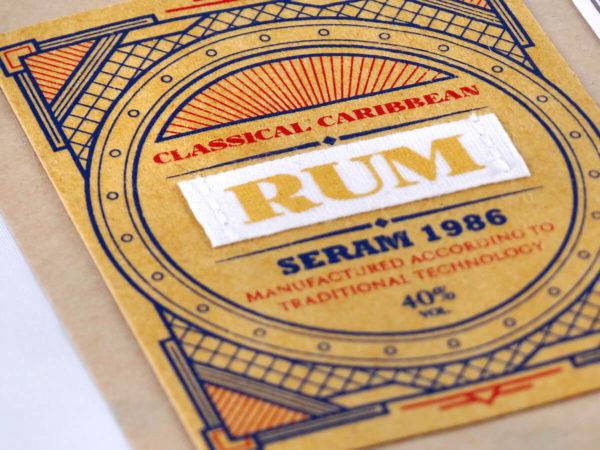 étiquette imprimée adhésive Jacron, ruban coton imprimé et plaqué
