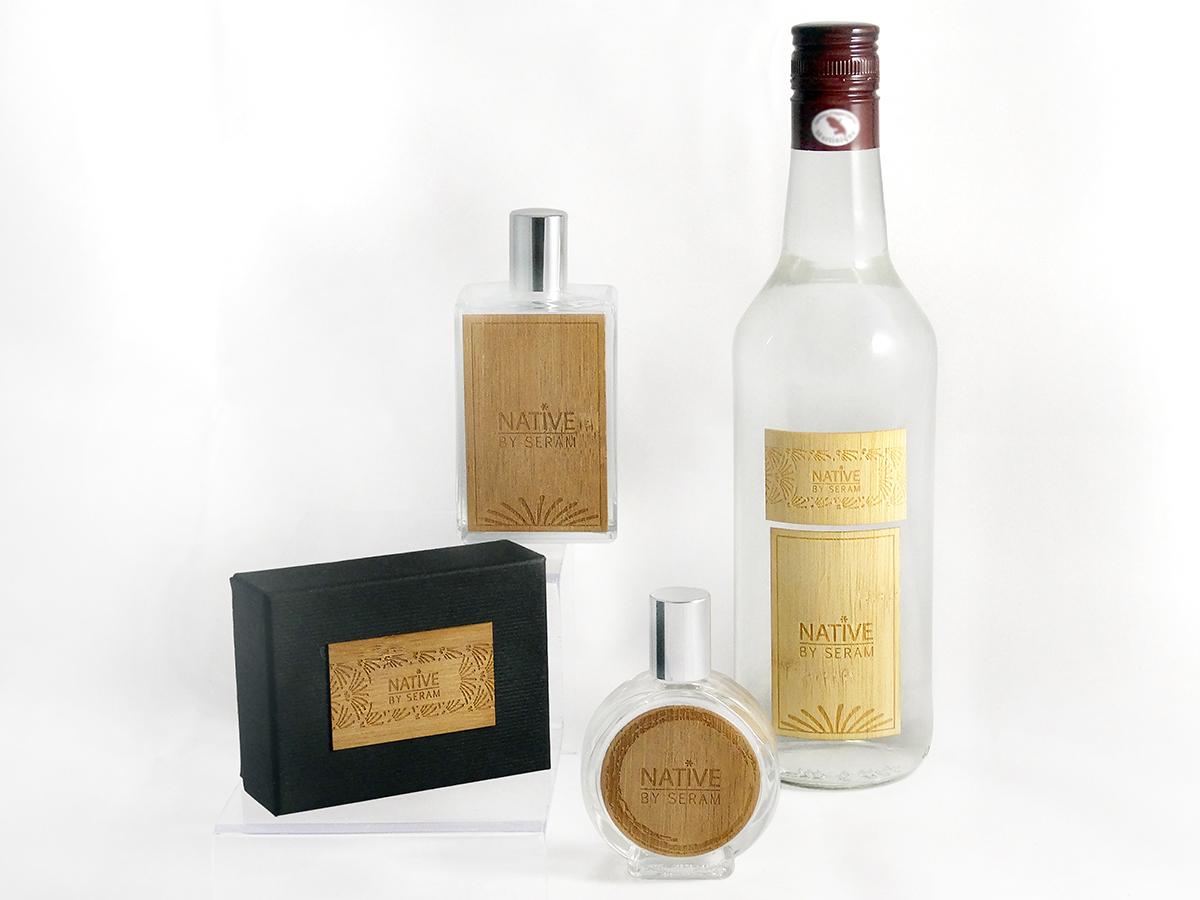 collection éco-responsable, étiquettes adhésives, tours de boite, habillages de flacon, cols de bouteilles, matériaux naturels